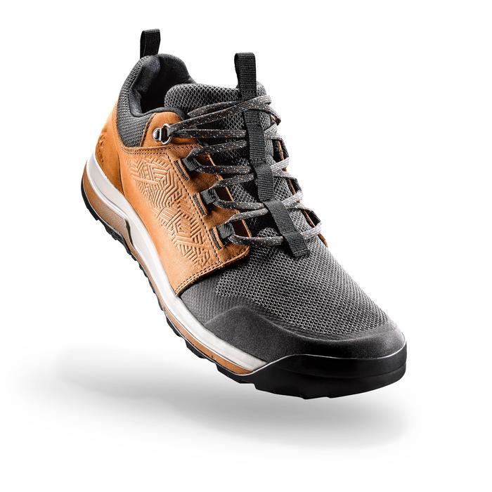 Giày ủng đi bộ vùng đồng bằng NH500 cho nam - Nâu Xám sẫm