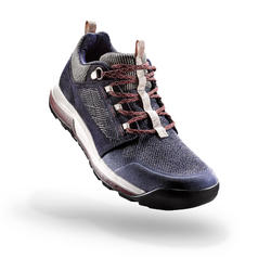 NATURE HIKING SHOES - NH500 - NAVY BLUE - WOMEN