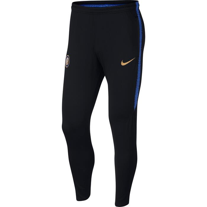 Pantalón Entrenamiento Fútbol Nike Inter Milán Adulto Negro Azul