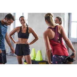 Fitnessschuhe Cardiotraining 500 Damen schwarz