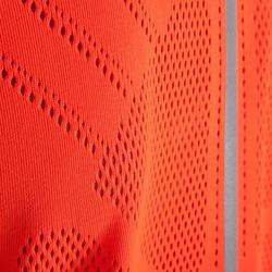 Hardloopshirt kinderen Kiprun fluoblauw/-rood