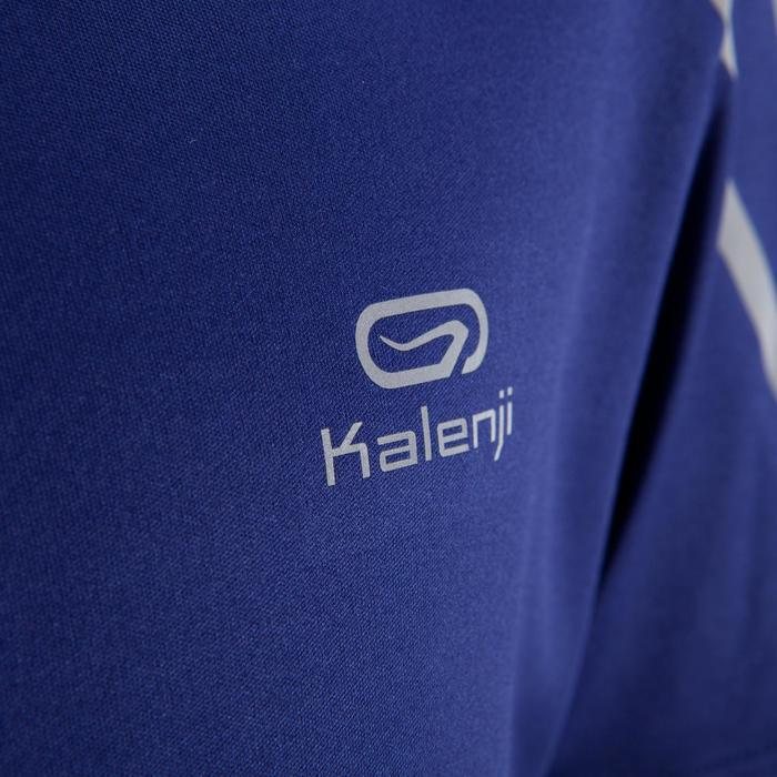 Tee Shirt Athlétisme enfant kiprun bleu rouge fluo