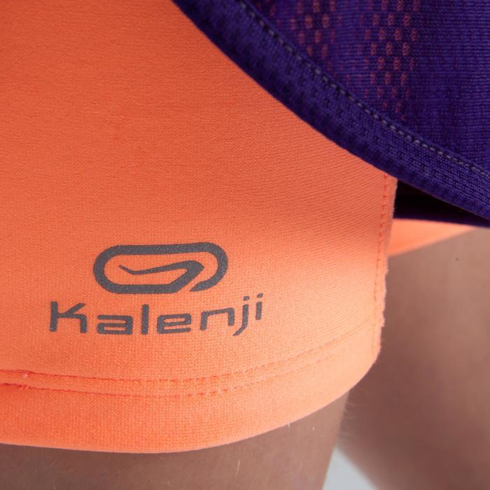 Atletiek short voor meisjes Kiprun paars fluokoraal
