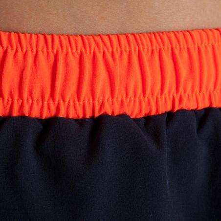 KIPRUN boy's athletics shorts grey fluo red