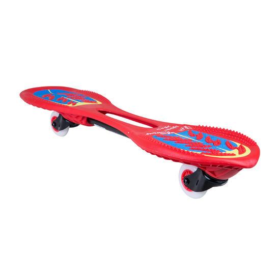 Oxeloboard Beginner fluorood met lichtgevende wielen - 155751