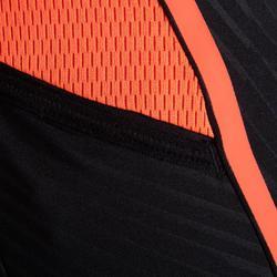 Laufshorts Tights Kiprun Kinder schwarz/orange