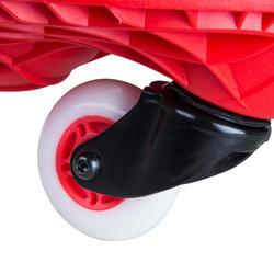 Oxeloboard Beginner fluorood met lichtgevende wielen - 155754