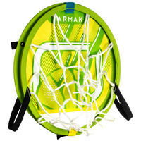 Panier de basket transportable avec ballon pour enfant et adulte HOOP 100 vert