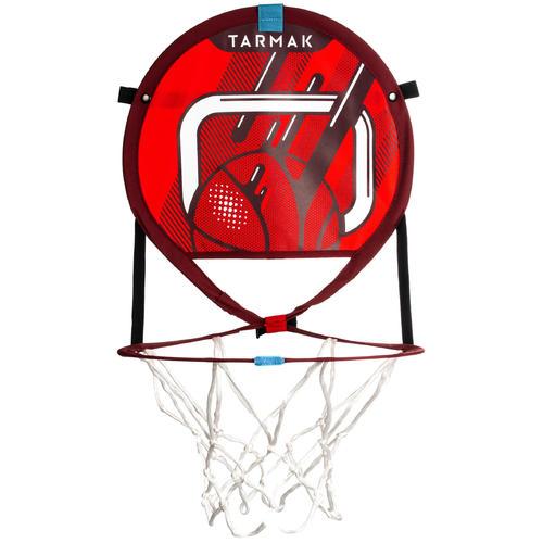 Panier de basket transportable avec ballon rouge