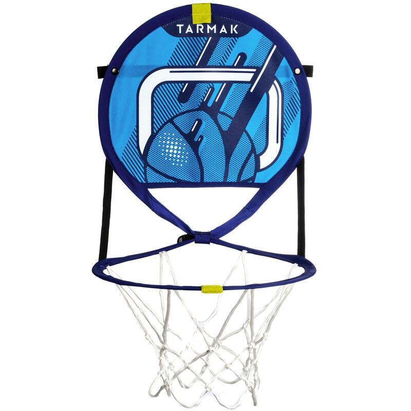 Hoop 100 Kids'/Adult Transportable Basketball Hoop Set With Ball - Blue
