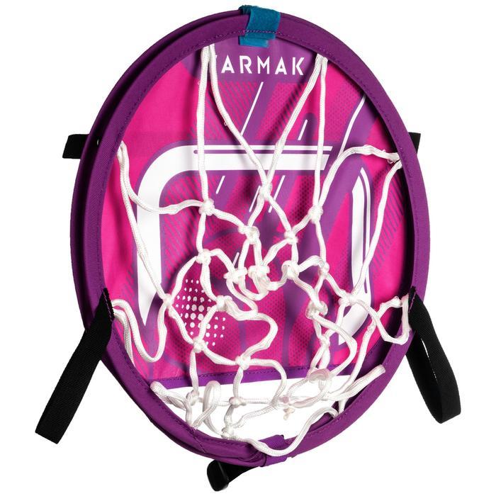 Canasta de baloncesto transportable con balón para niños y adulto HOOP 100 rosa