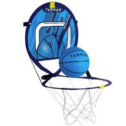 Canasta de baloncesto transportable con balón para niños y adultos HOOP 100 Azul