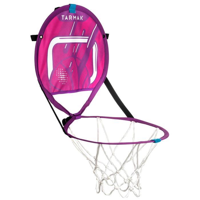 Panier de basket transportable avec ballon pour enfant et adulte HOOP 100 rose