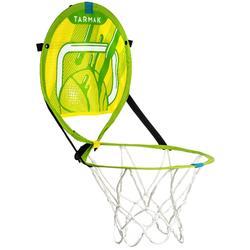 Canasta de baloncesto transportable con balón para niños y adulto HOOP 100 verde