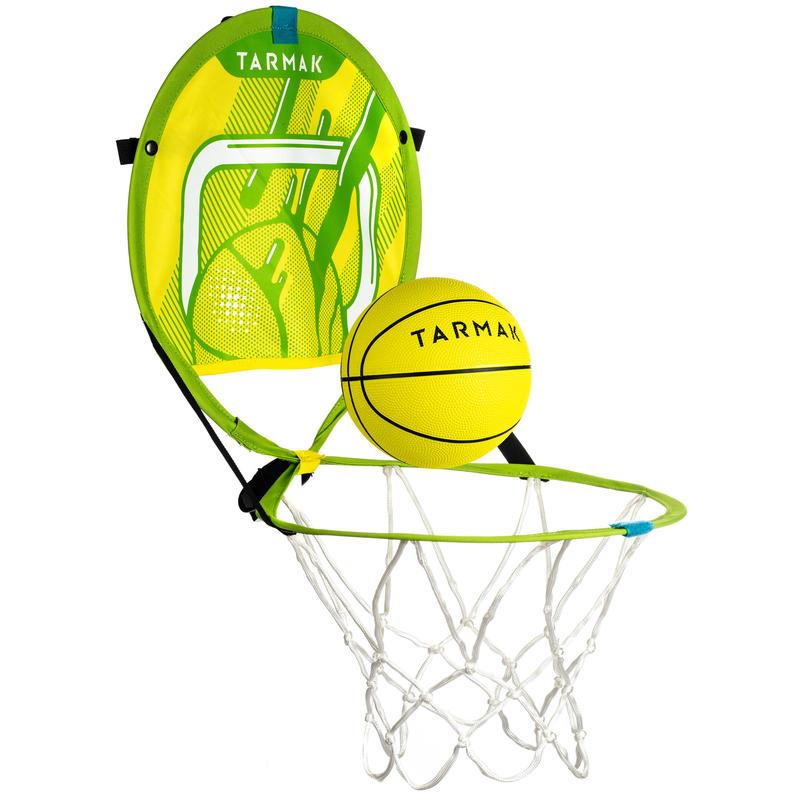 Hoop 100 Kids'/Adult Portable Basketball Basket with Ball - Green