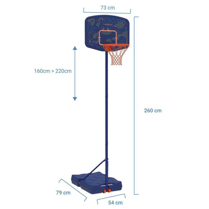 Canasta de baloncesto niño B200 EASY azul espacioDe 1,60 a 2,20 m. Hasta 10 años
