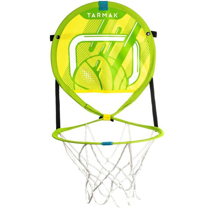 Draagbare basketbalring met bal voor kinderen en volwassenen Hoop 100 groen