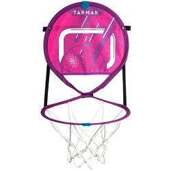 Draagbare mini-basketbalring met bal Hoop 100 (roze)