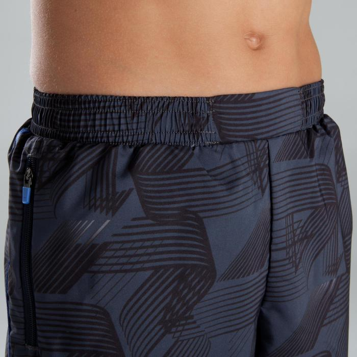 Children's baggy athletics shorts dark grey blue