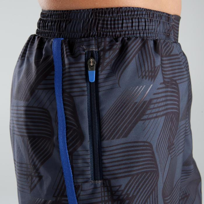 兒童寬鬆田徑短褲深灰色藍色