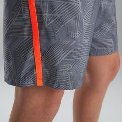 Baggy short voor atletiek, voor kinderen, lichtgrijs fluorood