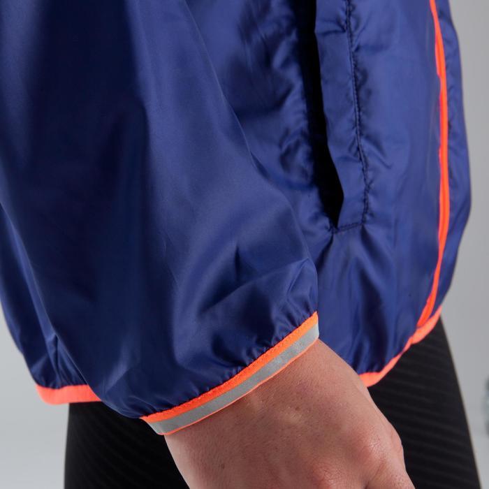 Atletiek windjack voor kinderen blauw fluorood