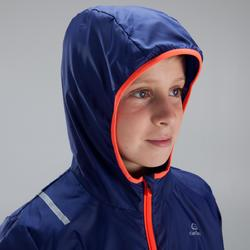 Hardloopjack windjack kinderen blauw fluorood