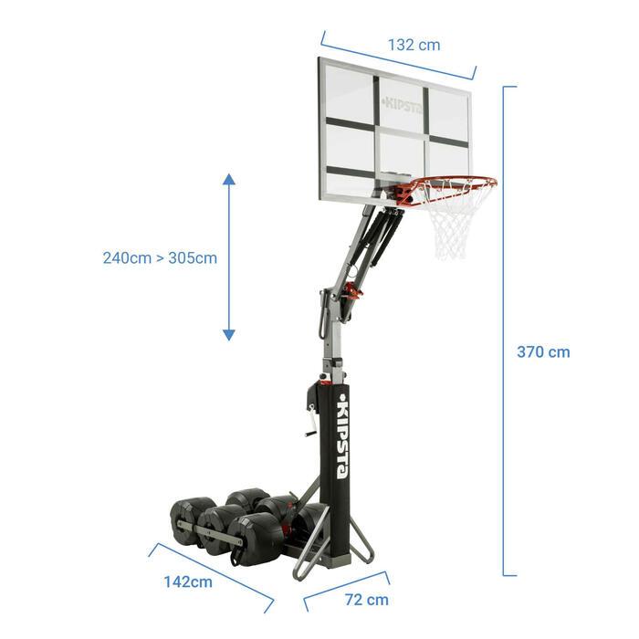 Basketball-Korbanlage B900 Kinder/Erwachsene 2,40–3,05m Auf-/Abbau in 2 Min