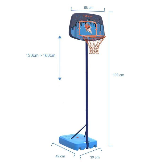 Panier de basketball enfant K500 vaisseau bleu. 1,30m à 1,60m. Jusqu'à 8 ans.
