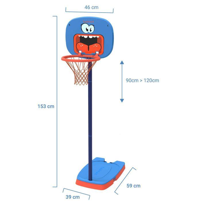 Canasta de baloncesto para niños K100 Monstre azul. 0,9 m a 1,2 m. Hasta 5 años.