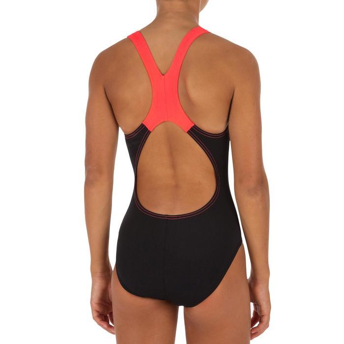 Meisjesbadpak Splashback zwart/oranje