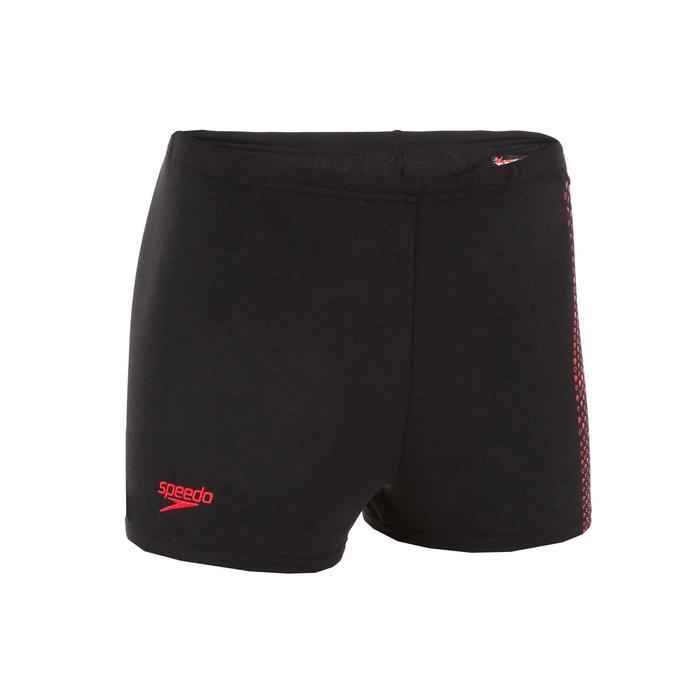 Zwemboxer voor kinderen zwart/rood