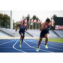 Korte atletiekbroek Kiprun heren blauw/rood