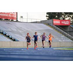 hoofdband voor atletiek meisjes paars en oranje