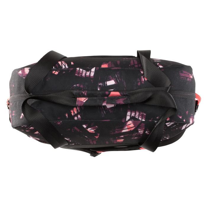 Sporttasche Fitness-/Cardiotraining 30l schwarz/rosa/lila/bedruckt