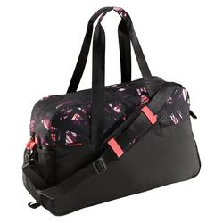 30L Cardio Fitness Bag - Black, Pink and Purple Print