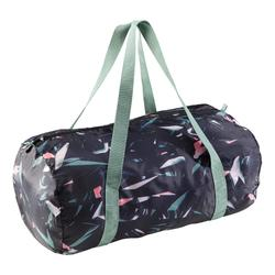 Bolsa fitness cardio-training plegable 30 L floral caqui