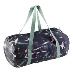 Fold-Down Cardio Fitness Bag 30L - Floral Khaki