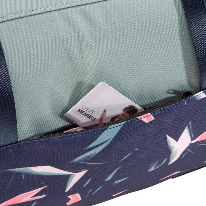 Sporttasche Fitness Cardio 30l khaki/grün/rosa mit Print