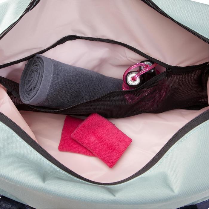 Sporttasche Fitness-/Cardiotraining 30l khaki/grün/rosa bedruckt