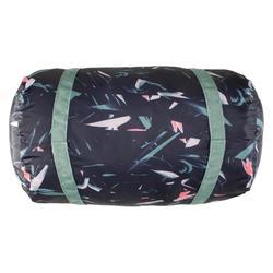 可摺疊有氧健身包30 L-卡其色花紋