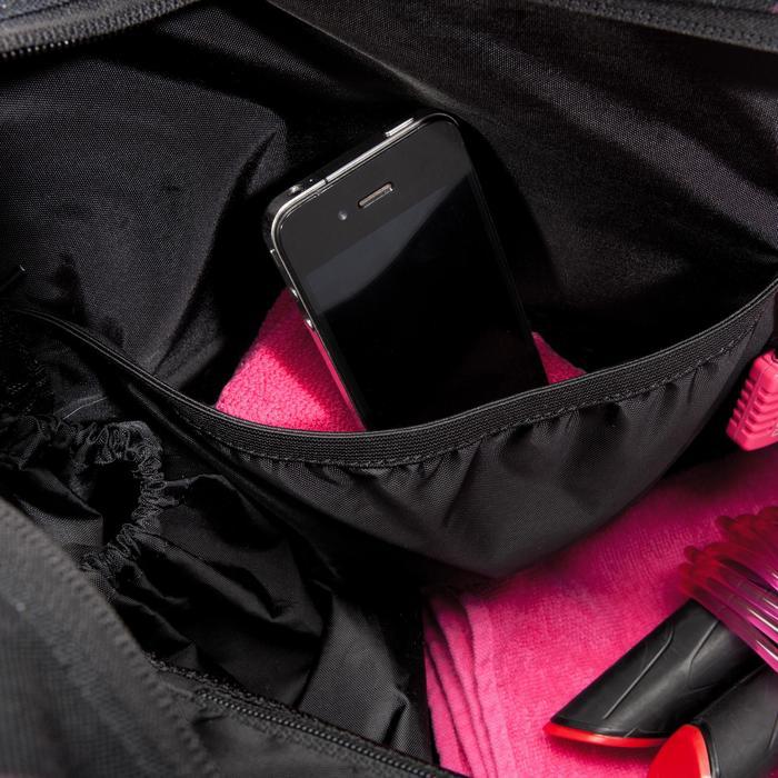 Sporttasche Premium Fitness 30l schwarz/rosa/lila/bedruckt