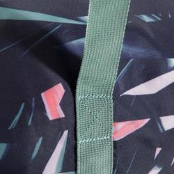 Sporttasche Fitness Cardio faltbar 30l florales Muster khaki