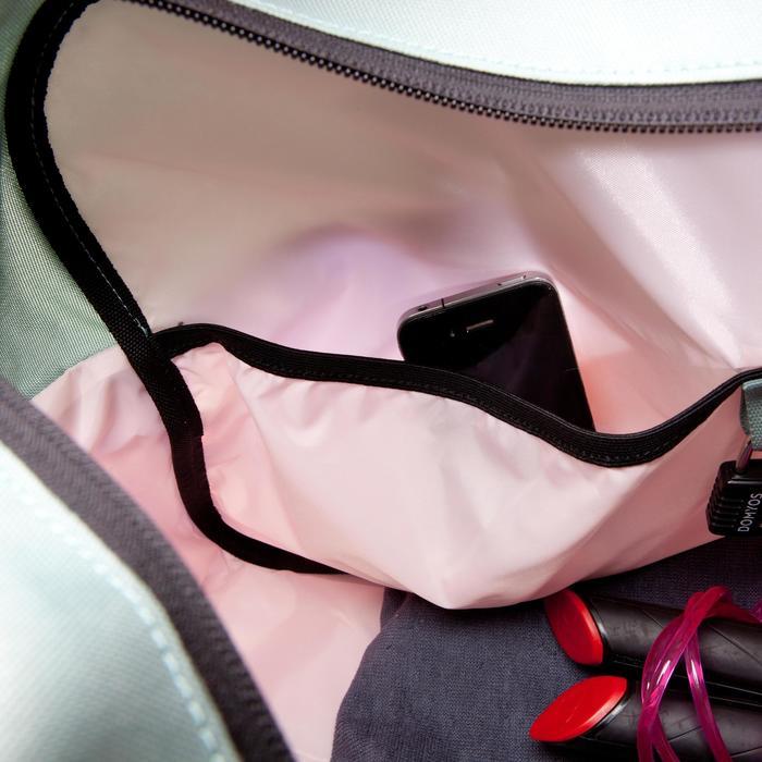 Cardiofitness tas 30 liter print kaki groen roze