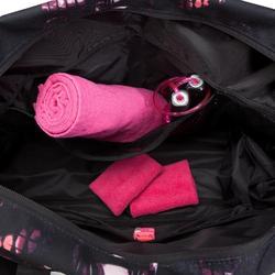 Sporttasche Fitness Cardio 30l schwarz/rosa/violett bedruckt