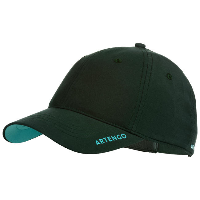 TC 500 Racket Sports Cap - Khaki/Turquoise