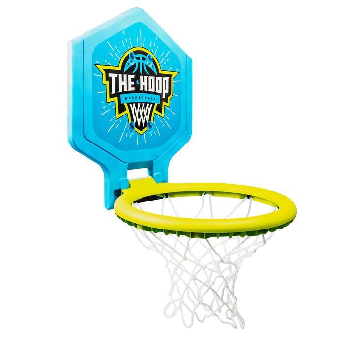Canasta baloncesto júnior/adulto THE HOOP 500 blason verde azul. Transportable.