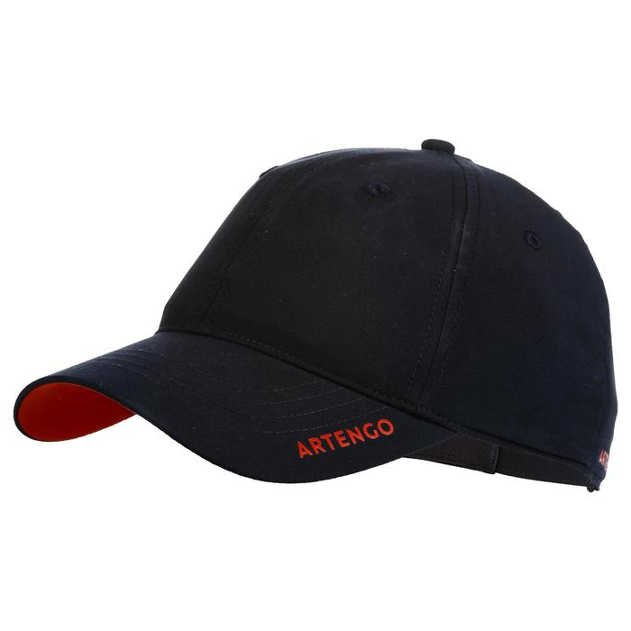Tennispet TC500 marineblauw/rood maat 58
