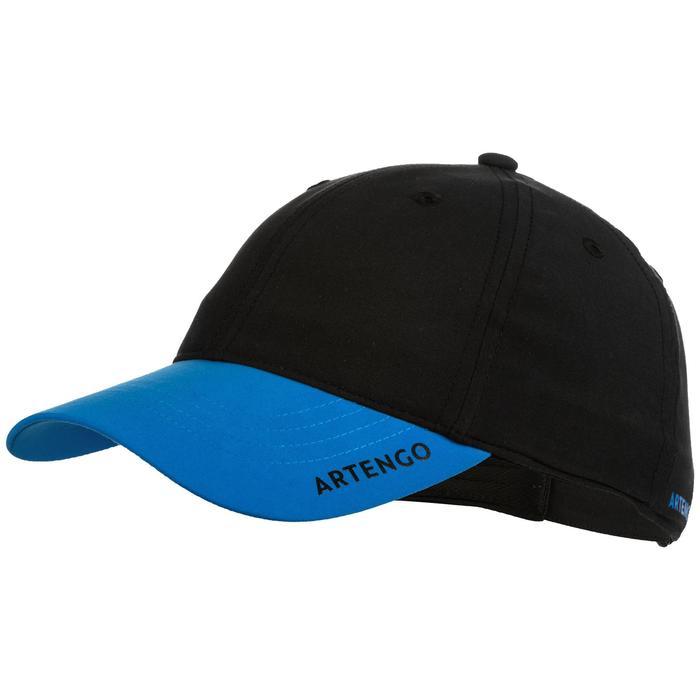 Tennis-Kappe TC 500 Schirmmütze Racketsport Kinder schwarz/blau