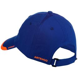 Soepele pet Artengo racketsport TC 100 blauw/oranje